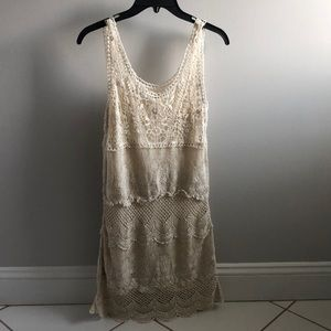 American Eagle lace cami off white dress Size XS